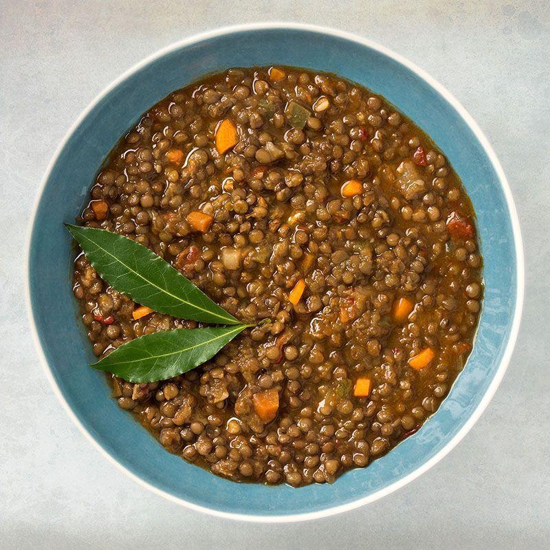 Lentejas pardinas con verduras (450 gr.)