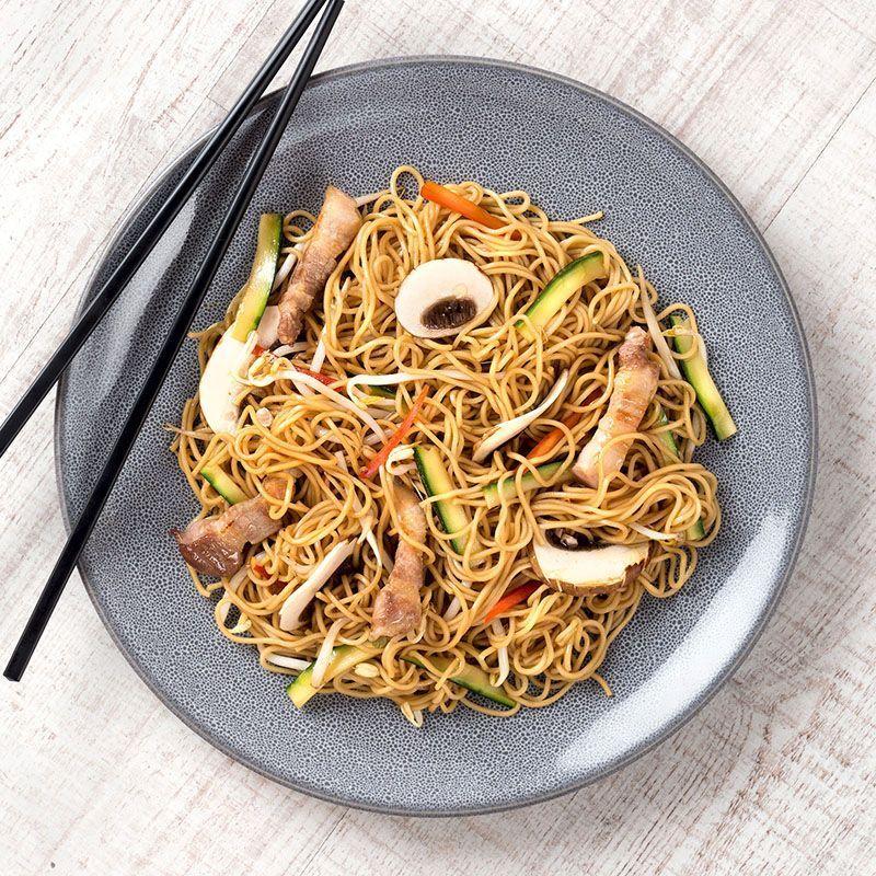 Noodles con panceta natural (450 gr.)