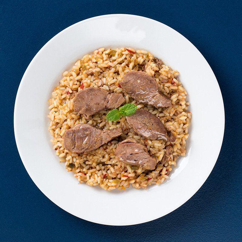 Arroz meloso con carrillada de cerdo estofada (450 gr.)