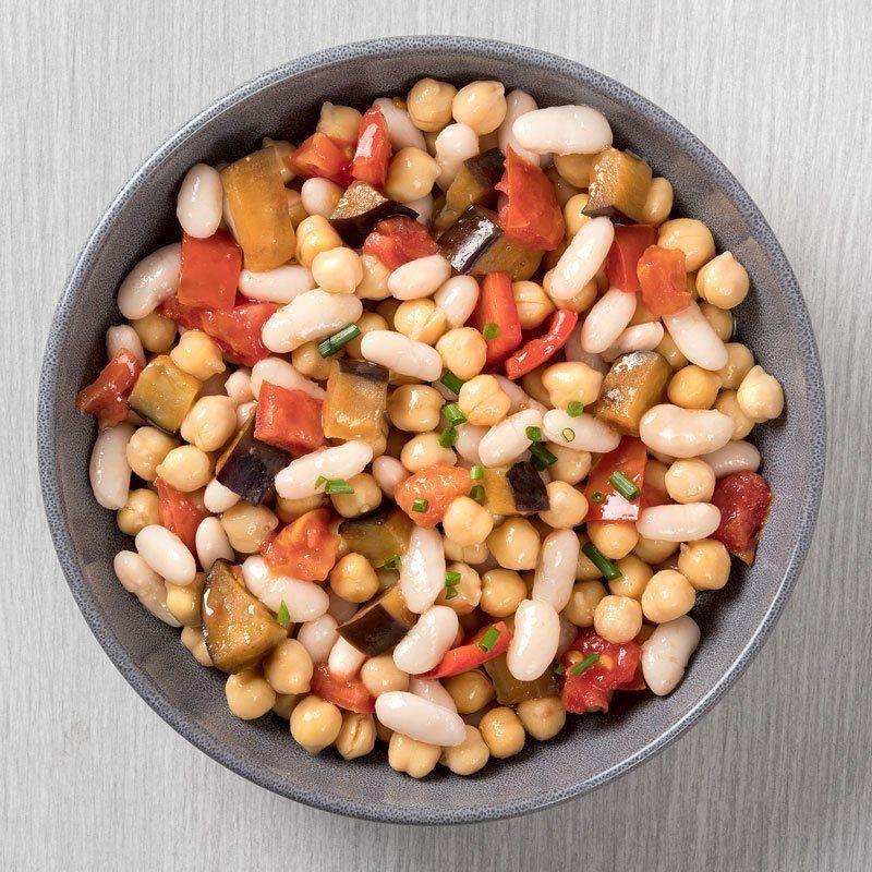 Ensalada templada de legumbres con verduritas asadas (400 gr.)