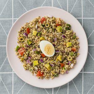 Ensalada de quinoa con aguacates