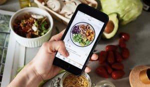 Encuentra comida sana en instagram